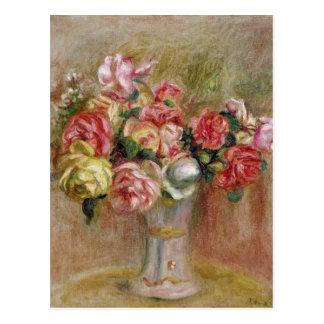 Roses in a Sevres vase Postcard