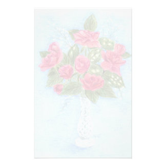roses in a vase personalized stationery
