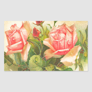 Roses in Bloom Rectangular Sticker