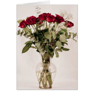 """Roses in clear vase"" collection Card"