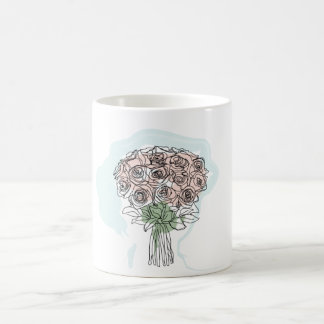 ROSES IN THE CUP BASIC WHITE MUG