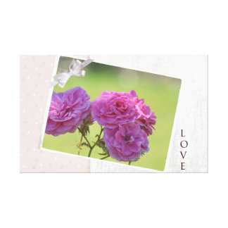 Roses In the Garden Canvas Prints