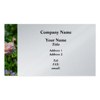 Roses in the Garden  - Platinum Finish Business Card