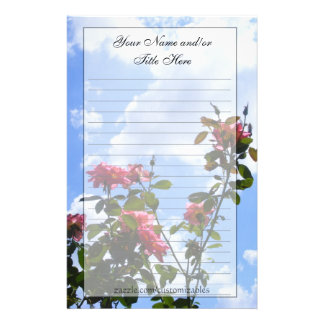 Roses in the Sky Stationary Stationery