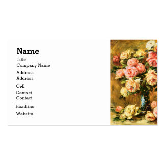 Roses in the Vase Renoir Fine Art Business Card Templates