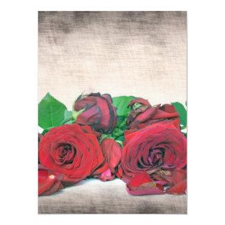 "Roses 5.5"" X 7.5"" Invitation Card"