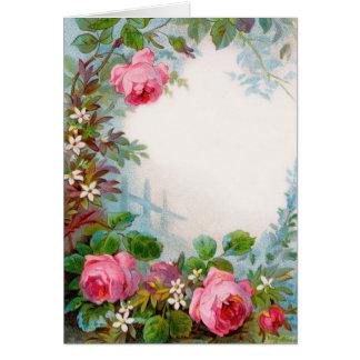 ROSES JASMINES GREETING CARDS