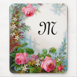 ROSES & JASMINES MONOGRAM MOUSE PADS