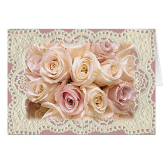 ROSES & LACE by SHARON SHARPE Card