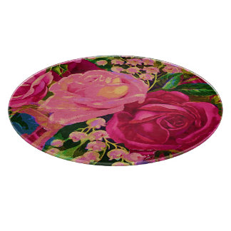 Roses & Lily of the Valley Cutting Board