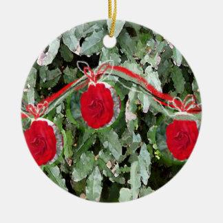Roses n' Holly Ornament