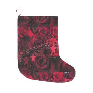 Roses n' Stars Stocking Large Christmas Stocking
