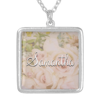 Roses Name Necklace
