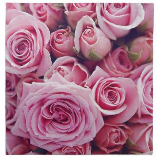 roses napkin