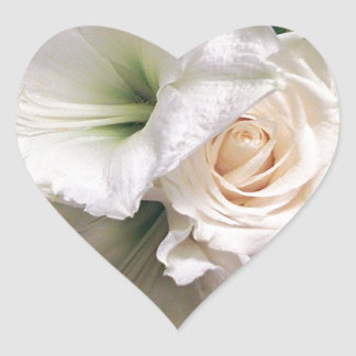 Roses of Love Lilies of Life_ Heart Sticker