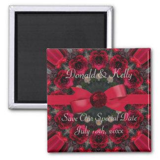 Roses Of Red Mandala Wedding Refrigerator Magnets