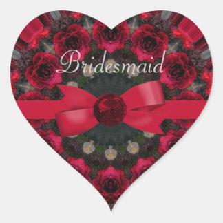 Roses Of Red Mandala Wedding Stickers