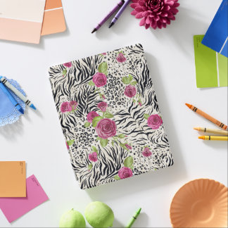 Roses On Animal Pattern iPad Cover