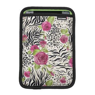 Roses On Animal Pattern iPad Mini Sleeve