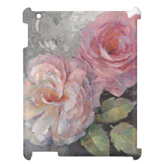 Roses on Gray iPad Case