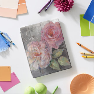Roses on Gray iPad Cover