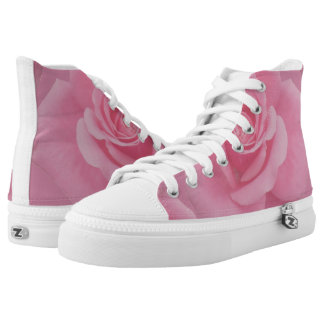 Roses on High Tops Printed Shoes