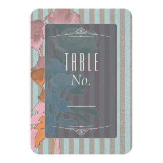 Roses On Linen - Table Number Card