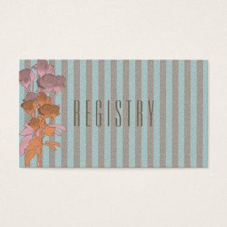Roses On Linen - Wedding Registry Card