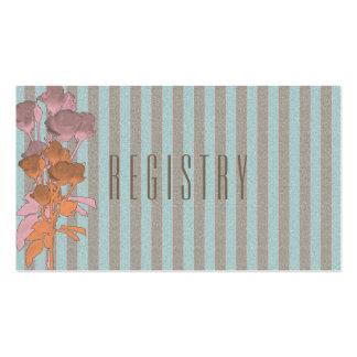 Roses On Linen - Wedding Registry Card Pack Of Standard Business Cards