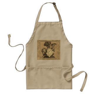 Roses Painting In Sepia Standard Apron