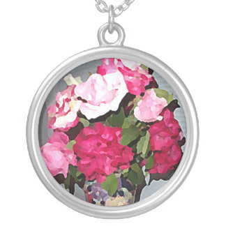 Roses Painting Necklace