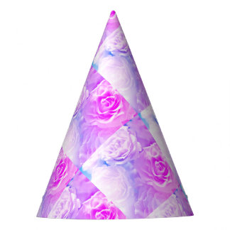 Roses Party Hat-Fuchsia Party Hat