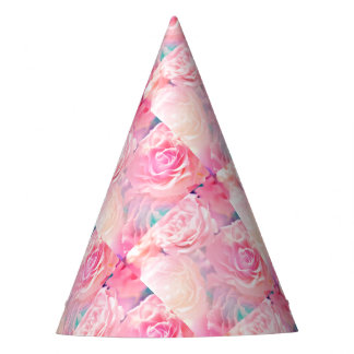 Roses Party Hat-Hot Pink Party Hat