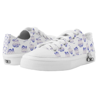 roses pattern low tops