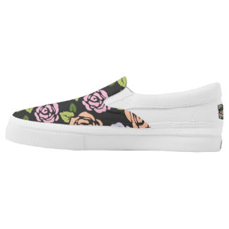 Roses Pattern Slip On Shoes