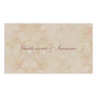 Roses pearls pink seating name tags for weddings business card template