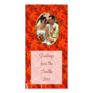 Roses/Photo Photo Card Template