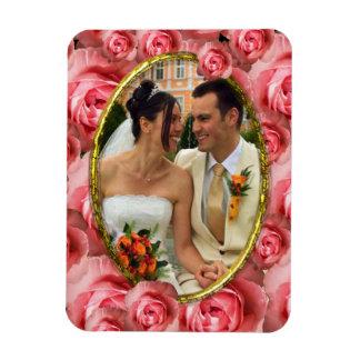 Roses/Photo Rectangular Photo Magnet