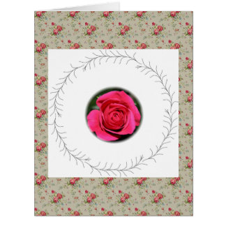 Roses Pink Floral Decorative Art, Card