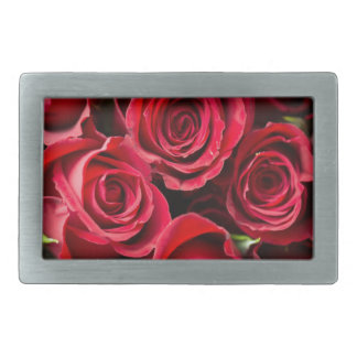 Roses Rectangular Belt Buckle