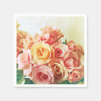 Roses romance disposable serviette