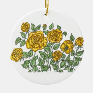 Roses Round Ceramic Decoration