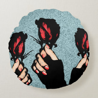 Roses Round Pillow