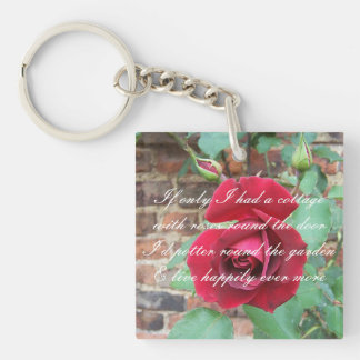 Roses round the door poem key ring