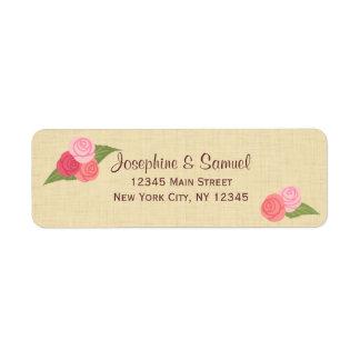 Roses Rustic Return Address Labels