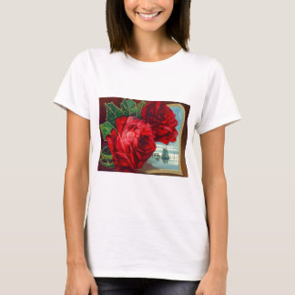 Roses Sailboats Ocean Vintage Father's Day T-Shirt