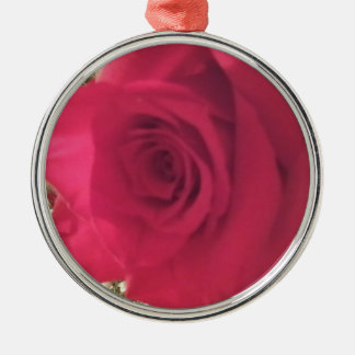 Roses Silver-Colored Round Decoration