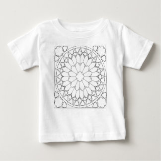 Roses Stained Glass Baby T-Shirt