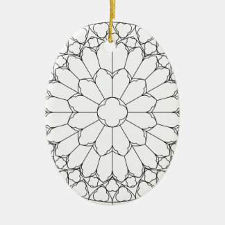 Roses Stained Glass Ceramic Ornament