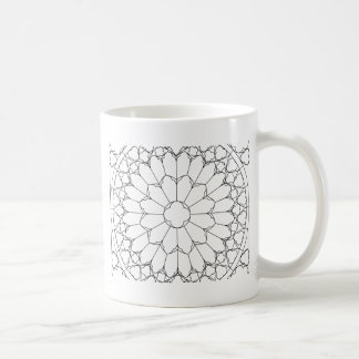 Roses Stained Glass Coffee Mug